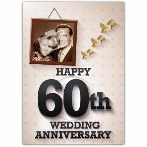 60th Wedding Anniversary Card