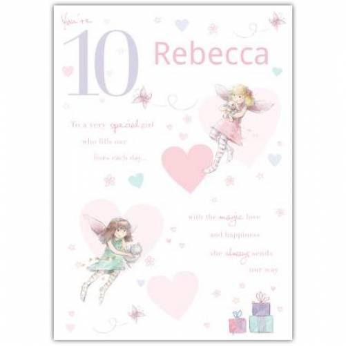 Special Girl Fairy Happy 10th Birthday Card