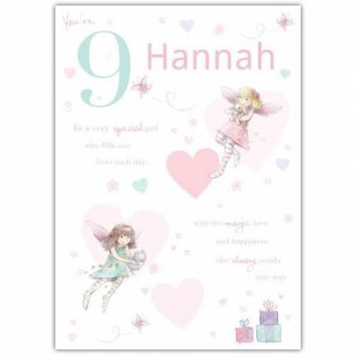 Special Girl Fairy Happy 9th Birthday Card