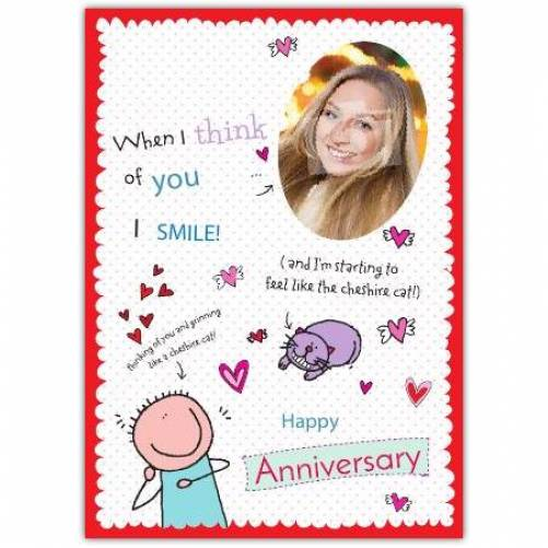 I Smile Happy Anniversary Card