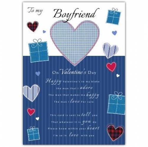 Boyfriend On Valentine's Day Card