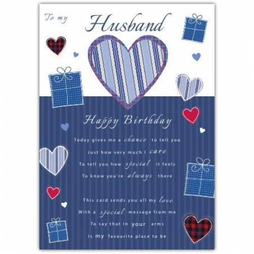 To My Husband Birthday Card