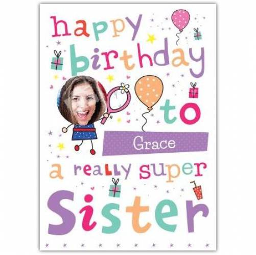 Really Super Sister Birthday Card
