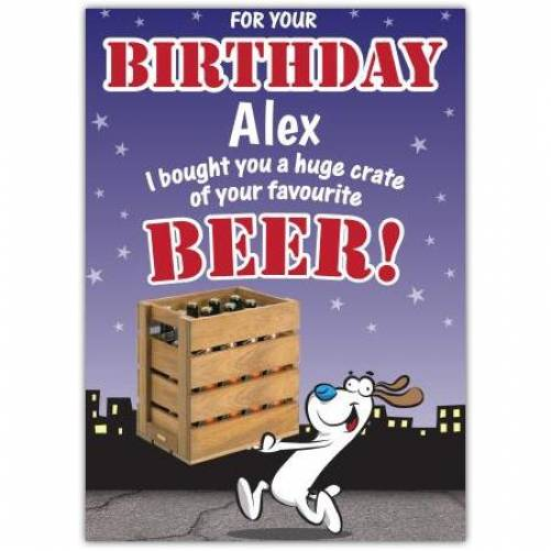 Your Favourite Beer Birthday Card