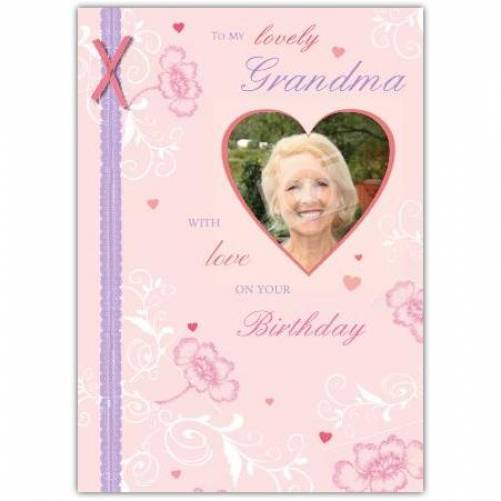 To My Lovely Grandma Birthday Card