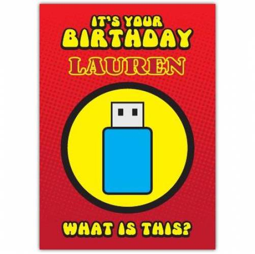 Robot Sleeping Bag Puzzle Birthday Card