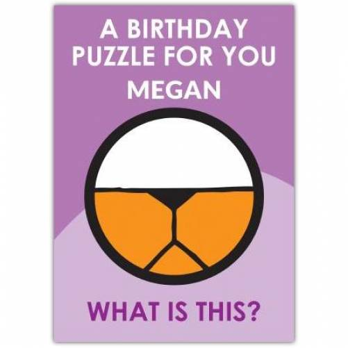 Blindfold Puzzle Birthday Card