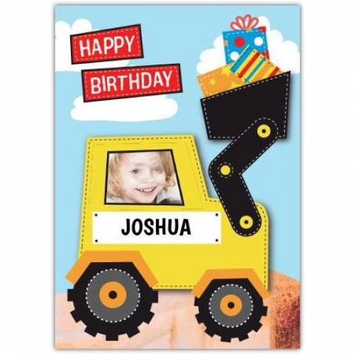 Happy Birthday Digger Birthday Card