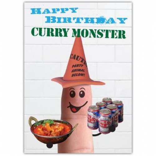 Curry Monster Birthday Card