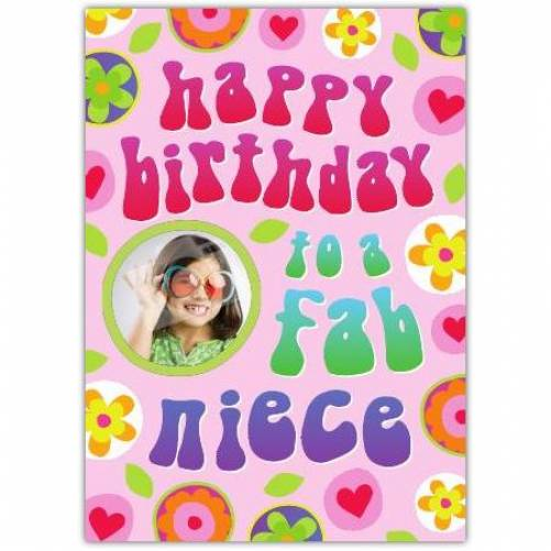 Fab Niece Retro Birthday Card