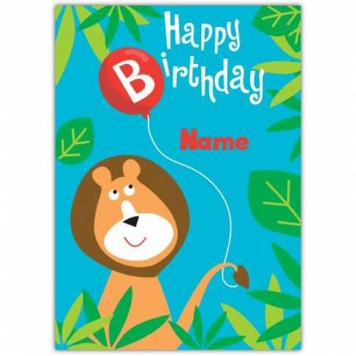 Lion Happy Birthday Card