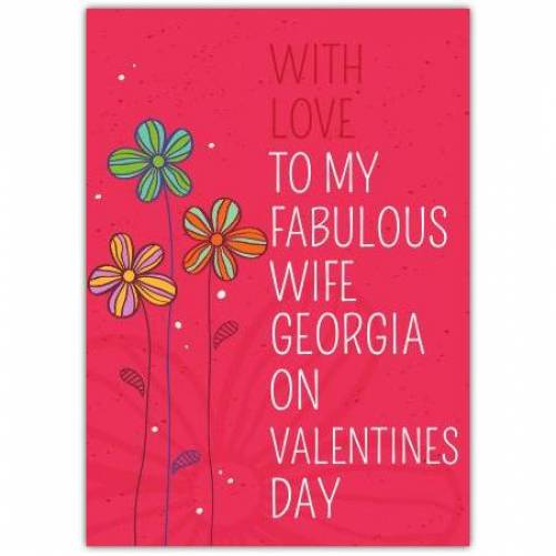 To My Fabulous Wife Card