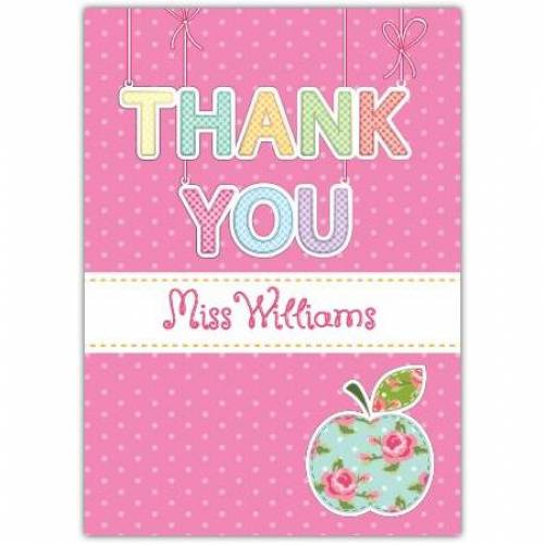 Thank You Pink Apple Card