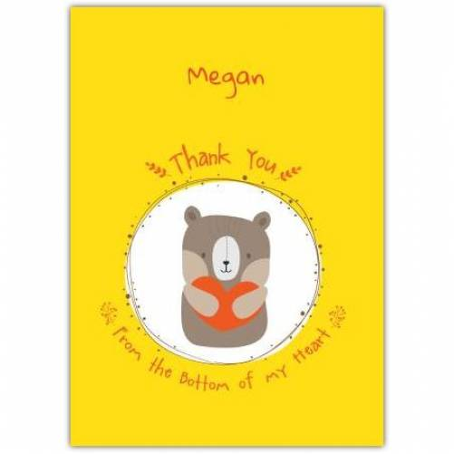 Thank You From The Bottom Of My Heart Card