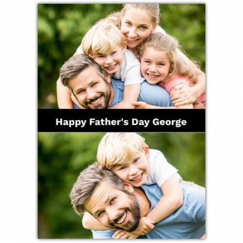 Fathers Day Two Photos Card