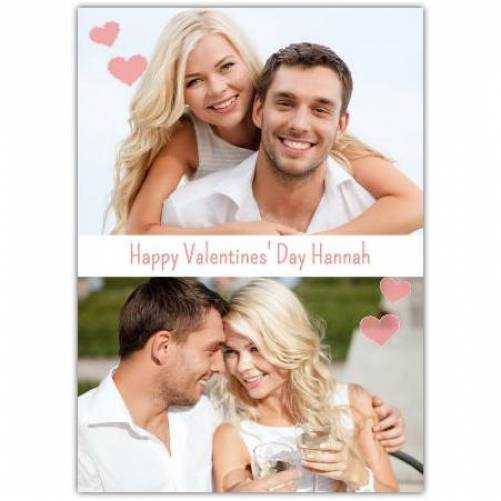 Valentines Day Two Photos Card