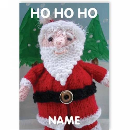 Ho Ho Ho Santa Christmas Greeting Card