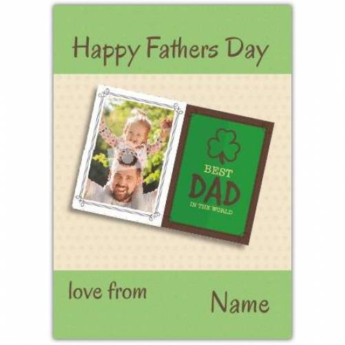 Shamrock Best Dad In The World Father's Day Card