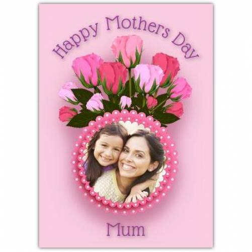 Tulips One Photo Happy Mother's Day Card
