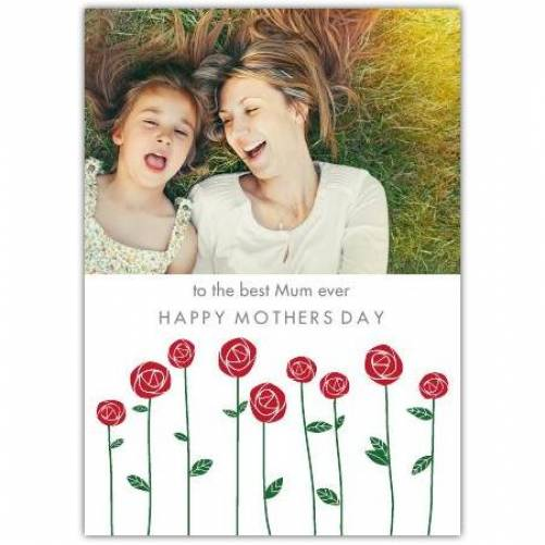 Best Mum Happy Mother's Day One Photo Card