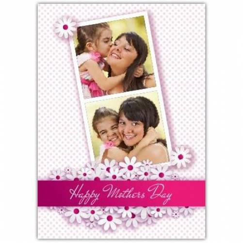 Two Photo Polaroid Happy Mother's Day Card