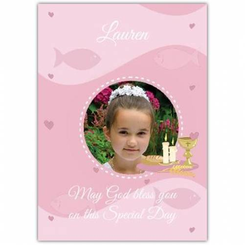 Pink One Photo Chalice Greeting Card