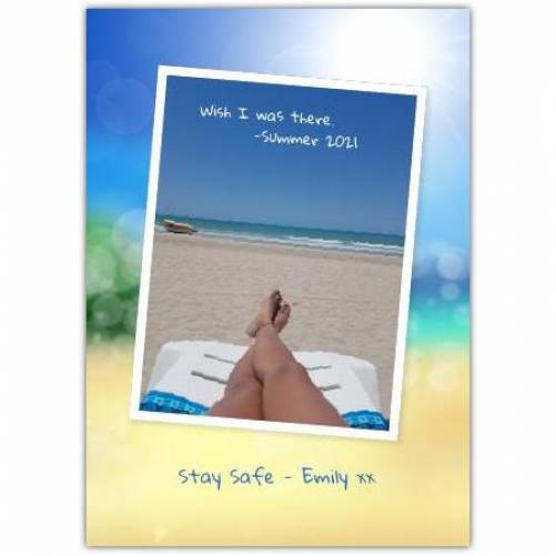 Stay Safe Vacation Holiday Greeting Card