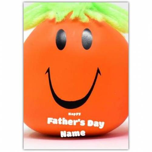 Orange Smiley Face Father's Day Card