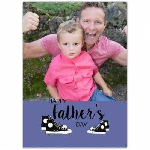 Converse Trainers One Photo Father's Day Card