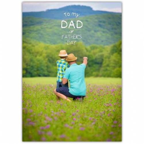 One Large Photo Father's Day Greeting Card