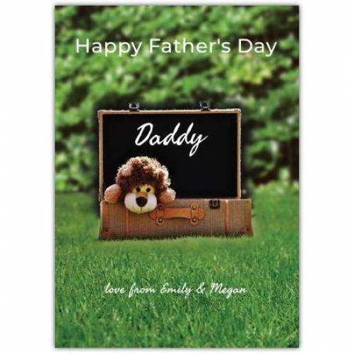 Cute Lion Teddy Father's Day Card