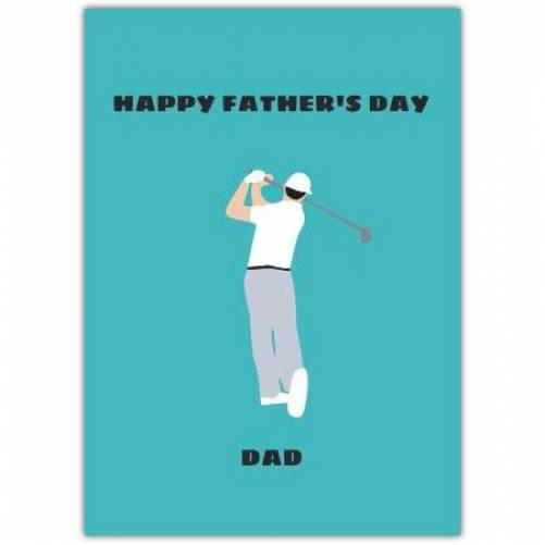 Happy Father's Day Golfing Illustration Card