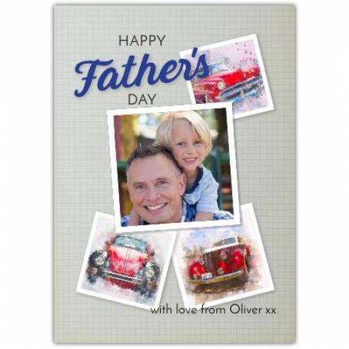 Happy Father's Day One Photo Vintage Motors Card
