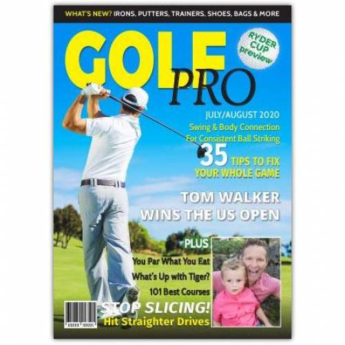 Golf Pro Magazine One Photo Greeting Card