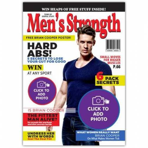 Men's Strength One Photo Greeting Card