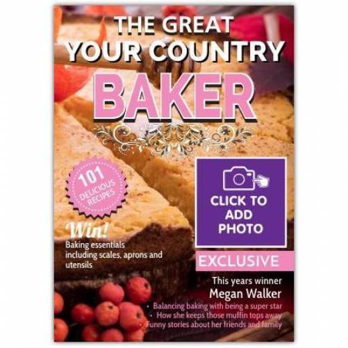 Great Baker Magazine Greeting Card