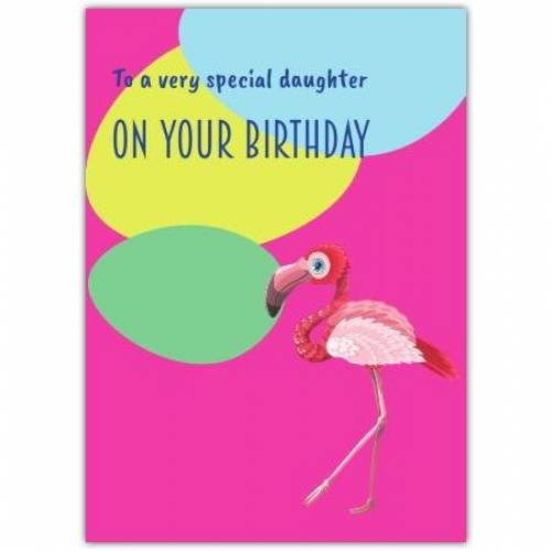 Pink Flamingo Special Relation Birthday Card