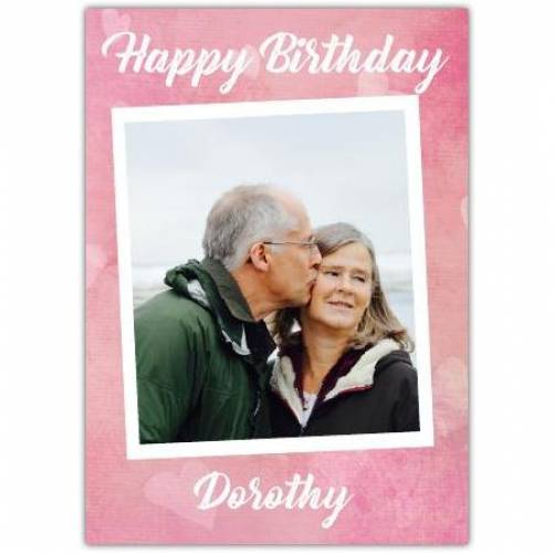 Pink One Photo Birthday Card