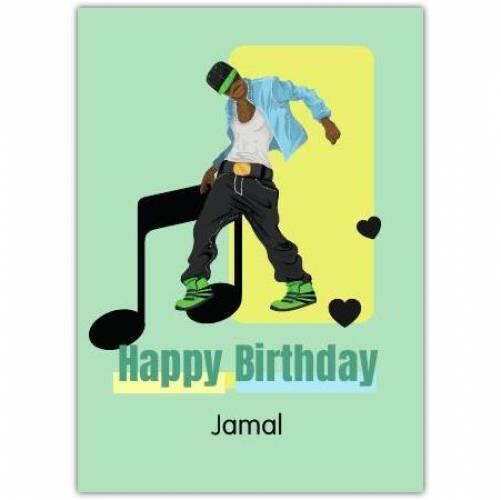 Happy Birthday Guy Dancing  Card