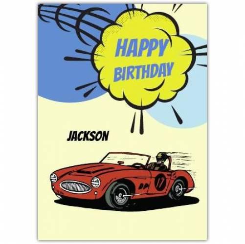 Happy Birthday Red Sports Car Card