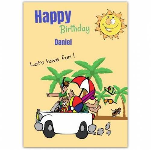 Happy Birthday Beach Fun Card