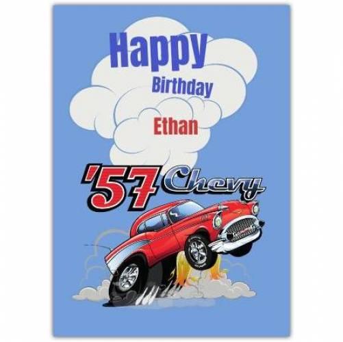 Happy Birthday 57 Chevy  Card