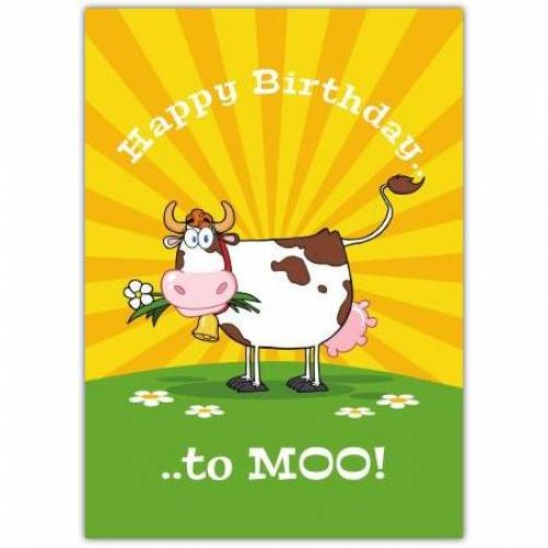 Happy Birthday To Moo Birthday Card