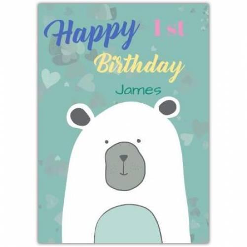 Happy Birthday Polar Bear Card