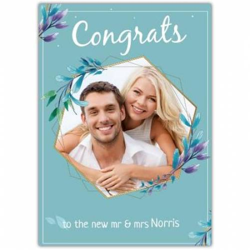 Congrats To The New Mr & Mrs Hexagon Photo Card