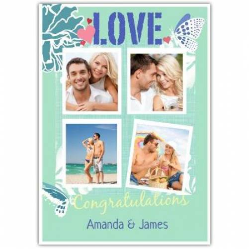 Love Congratulations Four Photos Card