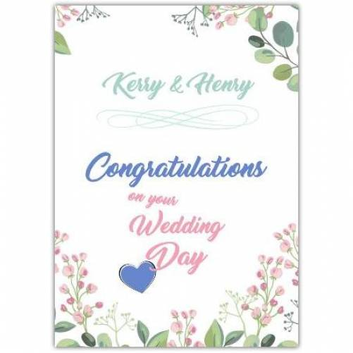 Names Congratulations On Your Wedding Day Card