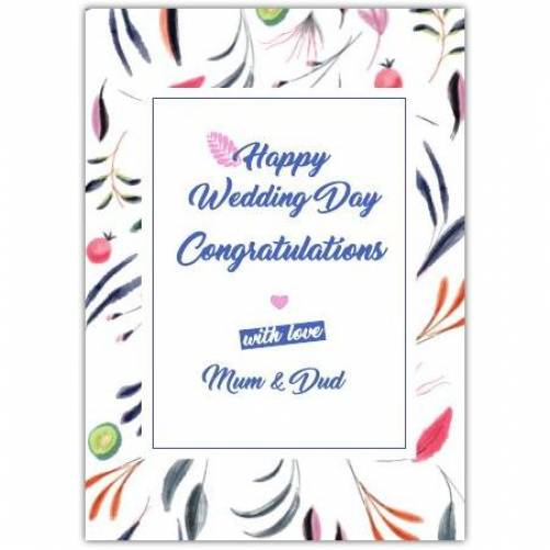 Happy Wedding Day Congratulations With Love Card