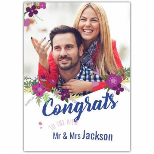 Congrats To The New Mr And Mrs Photo Card