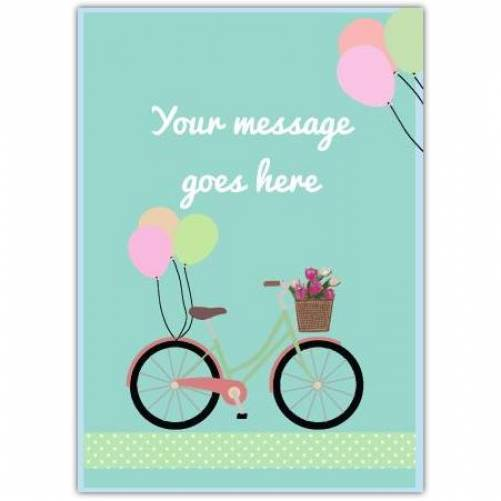 Balloons On Bike With Message Card